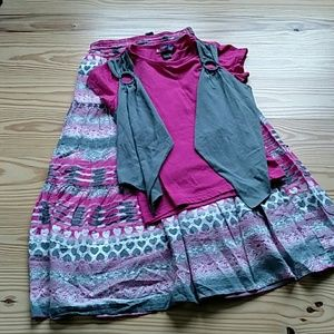 Cute Bohemian Skirt and Top